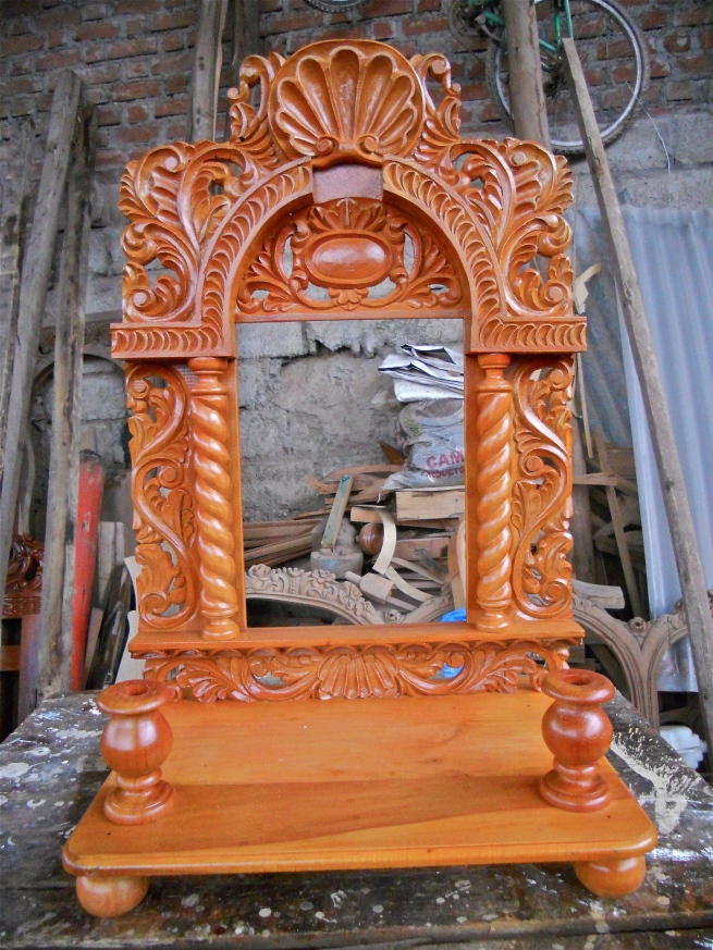 Baroque style, hand-carved, wooden frame