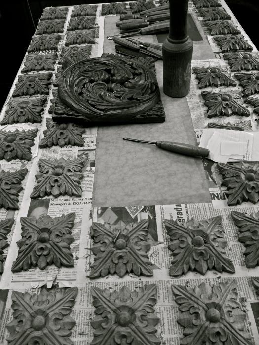 Rosettes are decorative architectural elements details